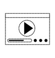 play button isolated icon vector image vector image