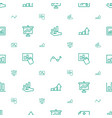 profit icons pattern seamless white background vector image vector image
