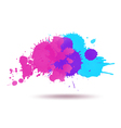 Purple and blue color ink vector image vector image