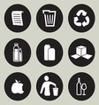 Recycling icon set vector image vector image