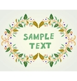 Retro doodle floral background vector image vector image