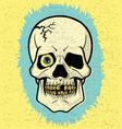 Retro Off-Print Skull vector image vector image