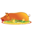 roasted piglet vector image vector image