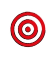 Round target dartboard vector image vector image