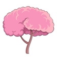 Sakura tree icon cartoon style