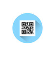 sample qr codes for smartphone scanning icon on vector image vector image