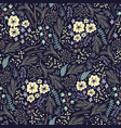 seamless floral pattern with cute small vector image vector image