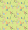 seamless texture with cats vector image vector image