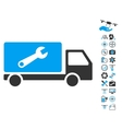 Service Car Icon With Copter Tools Bonus vector image