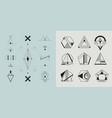 set of geometric abstract logos badges vector image vector image