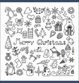 set of isolated merry christmas icons vector image vector image