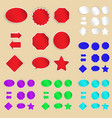 Set of paper labels and stickers vector | Price: 1 Credit (USD $1)