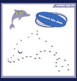 simple dot to dot game with dolphin for little vector image vector image