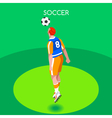 Soccer Header 2016 Summer Games Isometric 3D vector image vector image