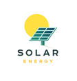 solar energy badge concept flat logo for a vector image vector image