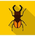 Stag beetle icon flat style vector image vector image