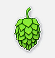 sticker a green cone hop vector image