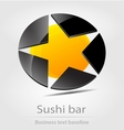 Sushi bar business icon vector image