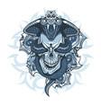 tattoo design queen cobra over skull vector image