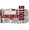 the little souls dolls text background word cloud vector image vector image