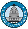 United states capitol badge vector | Price: 1 Credit (USD $1)