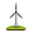 wind turbine green energy vector image vector image