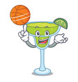 with basketball margarita character cartoon style vector image vector image