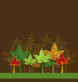 with many color trees vector image