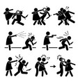 woman female girl self defense stick figure vector image vector image