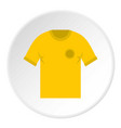 yellow soccer shirt icon circle vector image vector image