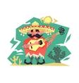 Cartoon mexican man vector image
