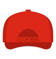 baseball cap back icon flat style vector image
