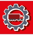 signal of truck isolated icon design vector image