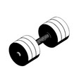 3d model of dumbbells on a white vector image vector image