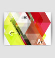 abstract background with color triangles annual vector image vector image