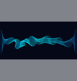 abstract dynamic waves lines flowing on dark vector image