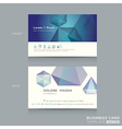 abstract low poly design business card Template vector image vector image