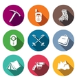 Alpinism Climbing the Mountain icons set vector image