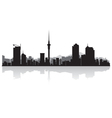Auckland city skyline silhouette vector image vector image