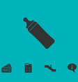 baby bottle icon flat vector image vector image