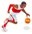 Basketball 2016 Sports 3D Isometric vector image vector image