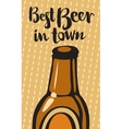 best beer and town vector image vector image