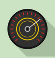 black red speedometer icon flat style vector image