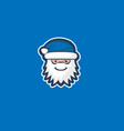 blue santa claus vector image