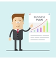 Businessman or manager in a suit shows business vector image vector image