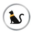 Cat goddess Bastet icon in cartoon style isolated vector image