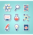 Chemistry and science paper cut icons vector image vector image