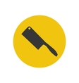 Cleaver knife silhouette vector image vector image