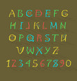 colorful geometric alphabet vector image vector image