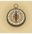 Compass retro pop art style vector image vector image